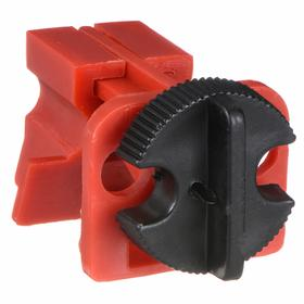Brady Multi-Pole Breaker Lockout: 1 1/4 in Lockout Wd, Clamp-On, 120/277V Circuit Breaker Volt, 9/32 in Max Shackle Dia