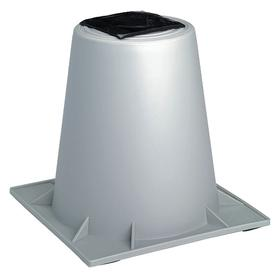 Heat Pump Riser: 12 in Item Raised, 12 in Overall Ht, 1 Pieces, Gray