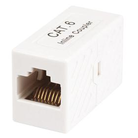 Coupler: RJ45, Simplex, 8 Contacts, 8 Positions, White