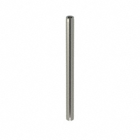 Slotted Spring Pin: 420 Stainless Steel, Passivated, 3/32 in OD, Fits 0.094 Min Hole Dia, 1 3/8 in Overall Lg, 100 PK