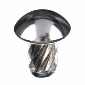 Stainless Steel Screw Nails: 18-8 Stainless Steel, 9/64 in Screw Size, 3/4 in Shank Lg, 17/64 in Head Dia, 500 PK