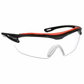 Honeywell Safety Glasses: Clear, Full Frame, Anti-Fog/Scratch Resistant, Black, Nylon, 5.9 in Arm Lg, Dielectric