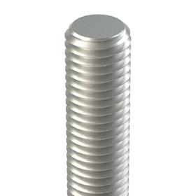 """Threaded Rod: 18-8 Stainless Steel, 5/16""""-24 Thread Size, 2 ft Overall Lg"""