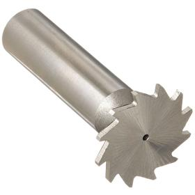 Keyseat Milling Cutter: High Speed Steel, Inch, Straight Tooth Configuration, Right Hand, 3/4 in Cutter Dia, 1/32 in Cutter Wd