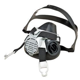MSA Advantage 420 Half Mask Respirator: L Size, Dual, Bayonet, Silicone, Face Seal, Exhalation Valve, Double Neck Strap