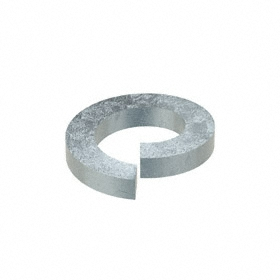 Split Lock Washer: Steel, Zinc Plated, For 1 1/8 in Screw Size, 1.129 in ID, 1.847 in OD, 0.281 in Thickness, 5 PK