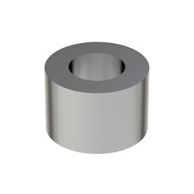 Steel Spacer: Imperial, 3/8 in Screw Size, 1/2 in Overall Lg, +/-0.010 in Overall Lg Tolerance, 25/64 in ID, 5 PK