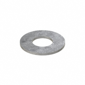 Oversized Flat Washer: Steel, Galvanized, Low Carbon Material Grade, For 1 1/4 in Screw Size, 1.375 in ID, 3 in OD, 5 PK
