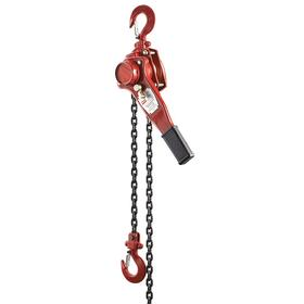Lever Chain Hoist: Powder Coated, Overload Protection Included, Weston Style Load Brake, Safety Latch, 3000 lb Max Load Capacity