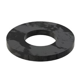 Flat Washer: Steel, Black Oxide, Case Hardened Material Grade, For 5/8 in Screw Size, 0.657 in ID, 1.375 in OD, 10 PK