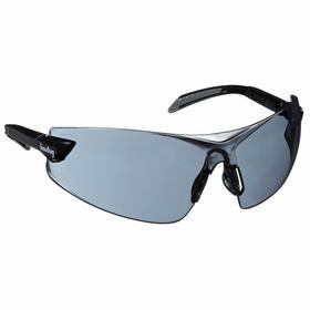 PIP Safety Glasses: Gray, Frameless Frame, Anti-Fog/Scratch Resistant, Black, ANSI Z87.1/CSA Z94.3, Polycarbonate