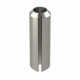 Slotted Spring Pin: 18-8 Stainless Steel, Passivated, 5 mm OD, Fits 5 Min Hole Dia, Fits 5.2 Max Hole Dia, 16 mm Overall Lg, 10 PK