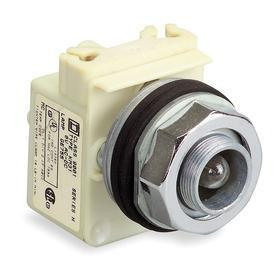 Schneider Electric Pilot Light without Lens: 6V AC/DC, Transformer, For Incandescent, Chrome, Zinc, Pressure Plate