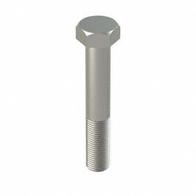 "Steel Hex Cap Screw: Passivated, Grade 8 Material Grade, 1/2""-20 Thread Size, 3 in Shank Lg, Partially Threaded, 10 PK"