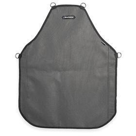 Cut-Resistant Bib Apron: ANSI Cut-Resist Level 5, Resin Coated Nylon, Gray/Black, Waist Lg Type, Adj Strap, Buckle