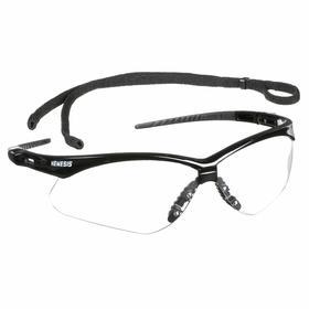 Kimberly-Clark Professional Safety Glasses: Clear, Wraparound Frame, Scratch Resistant, Black, ANSI Z87.1+2010, Nylon