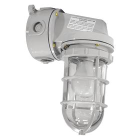Hazardous Location Light Fixture: For LED, 7 3/8 in Overall Lg, 5 3/16 in Overall Wd, Non-Metallic Polymer, Gray, LED