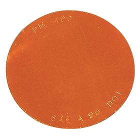 Peterson Vehicle Reflector: Circle, Amber, Acrylic, 2 7/8 in Overall Dia, For Cars/Trucks/Vans
