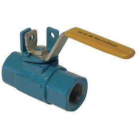 Cameron Ball Valve: 2-Piece, Std Port Classification, Carbon Steel, Steel, Locking Lever, NPT, 1/2 in Pipe Size (Port 1)