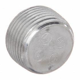 Haz-Location Recessed Plug: 1/2 Trade Size, Aluminum, 5/8 in Overall Lg