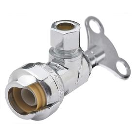 RWC Stop & Waste Valve: Brass, Push, 1/2 Inlet Pipe Size, 200 psi Max Op Pressure, 200° F Max Op Temp, California Prop65 Org