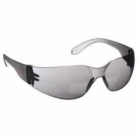 Safety Glasses: Frameless Frame, Gray, Scratch Resistant, ANSI Z87.1-2010