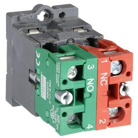 Lamp Module & Contact Block: For Plastic Operators, 1.57 in Overall Lg, Green, 2 Haz Material Indicator, LED, Includes Bulb