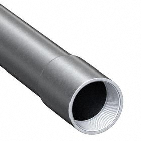 Galvanized Rigid Steel Conduit (GRC): Hot Galvanized, 3/4 in Trade Size, 1.05 in Conduit OD, 0.94 in Conduit ID, Female