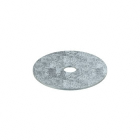 Oversized Flat Washer: Steel, Zinc Plated, Low Carbon Material Grade, For 1/2 in Screw Size, 0.532 in ID, 3 in OD, 5 PK