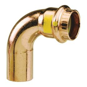 Viega Push-to-Connect Tube Fitting: Elbow, Copper, 2 in Port 1 Tube Size, For 2 in Tube Size, FTG/Not Applicable/Press