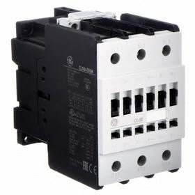 GE IEC Magnetic Contactor: 3 Poles, Single/Three Phase, 80 A Current Rating, 24V AC Control Volt, Std Terminal