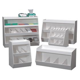 Laboratory Storage Bin: PVC, White, 10 1/2 in Wd, 20 in Ht, 70 Haz Material Indicator, 24 in Lg