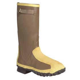 Honeywell Leather Work Boot: Men, Steel, 16 in Shoe Ht, Rubber, Moss Green, Metatarsal Guard/Puncture Resistant, ASTM F2413-05, 1 PR