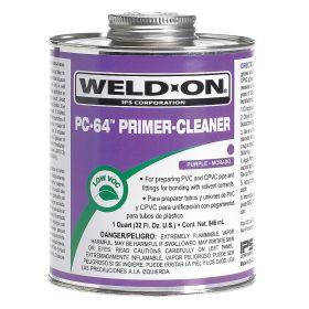 Primer & Cleaner: 8 fl oz Size, Can, Cleaner & Primer, CPVC/PVC, Purple, -32° F Min Op Temp, 140° F Max Op Temp