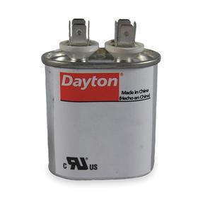 Motor Run Capacitor: Oval, 7.5 uF Capacitance, 370V AC, 50 Hz/60 Hz Freq, Male Terminal Gender, Crimp, 2 Terminals