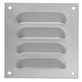 Hoffman Electrical Enclosure Louver Plate: Powder Coated, Steel, Louver Plate Kit, 7 7/8 in Overall Ht, Gray, 6 Vents