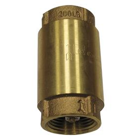 Check Valve: Low Lead Brass, NPT, 2 in Size, 30 gpm Max Flow Rate, 0.5 psi, 5 in Overall Lg, 200 psi Max Water Pressure