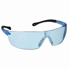 Gateway Safety Safety Glasses: Blue, Frameless Frame, Scratch Resistant, Black/Blue, ANSI Z87.1+/CSA Z94.3/MIL PRF-31013