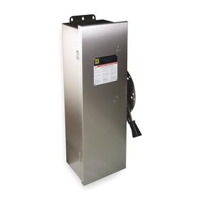 Schneider Electric Safety Switch: Three Phase, 3 Poles, 100 A Switch Rating, 75 HP at 600V AC Output Power - Three Phase