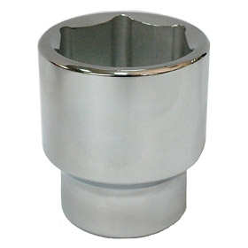 Corrosion-Resistant Socket: Metric, 3/4 in Drive Size, 6 Points, 41 mm Socket Size, 3 9/16 in Overall Lg, Chrome