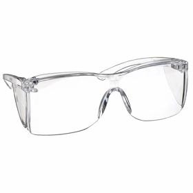 "Sellstrom Safety Glasses: Clear, Wraparound Frame, Uncoated, Polycarbonate, 5.5"" Arm Lg, 180 degrees, 24 PK"
