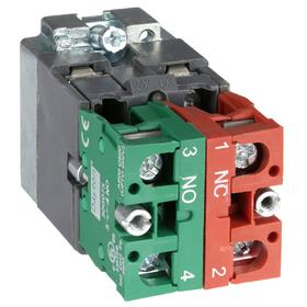 Lamp Module & Contact Block: For Chrome Operators, 1.57 in Overall Lg, Green, Includes Bulb, 2.97 in Overall Ht, LED