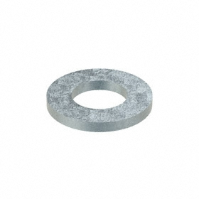 Oversized Flat Washer: Steel, Zinc Plated, Low Carbon Material Grade, For 1/4 in Screw Size, 0.266 in ID, 50 PK