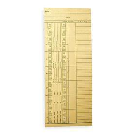 Time Card: For 741A465, 8 1/4 in Ht, 3 3/8 in Wd, 1000 PK