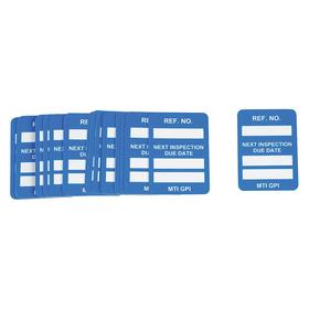 Brady Equipment Tagging System Tag: 1 3/4 in Overall Ht, 1 1/4 in Overall Wd, Inspection Logging, Blue, English, 100 PK