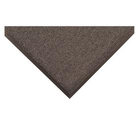 Entrance Mat: Fire Resistant, Rectangle, 4 ft Wd, 6 ft Lg, 1/2 in Thickness, Charcoal, Tufted, Polypropylene, Vinyl