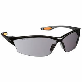 MCR Safety Glasses: Gray, Frameless Frame, Scratch Resistant, Smoke, ANSI Z87+_AS/NZS 1337.1_CAN/CSA Z94.3_CE EN166
