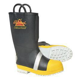 Slip-Resistant Protective Rubber Boot: Puncture Resistant/Slip Resistant/Waterproof, D Shoe Wd, 9 Men's Size, Men, 1 PR