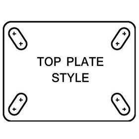 NSF Listed Plate Caster: 5 in Wheel Dia, Red, Polyurethane, Extra-Hard Relative Tread Hardness, Delrin