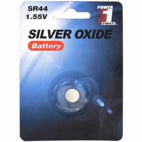 Battery: Silver Oxide, 76 Battery Size, 158 mAh Capacity, 1.5 V DC Nominal Volt